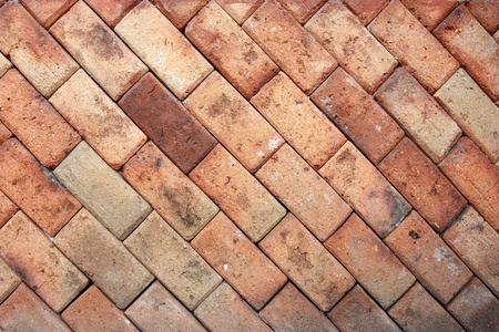 detail of a brown brick wall texture Stock Photo