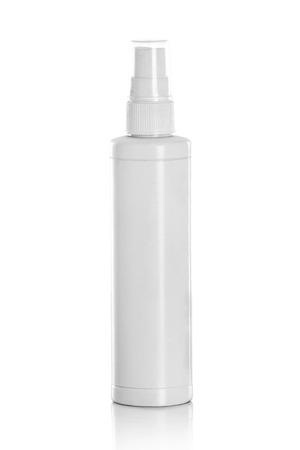スプレー ボトルの白コンテナー 写真素材