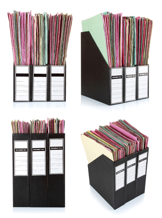 set of Office folders isolated on the white background Stock Photo - 23411774