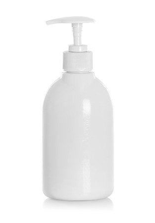 White tube bottle of shampoo, conditioner, hair rinse on a white background with reflection Stock Photo - 23450522