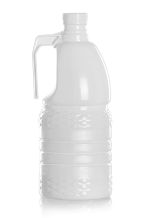 laundromat: Detergent Bottle or cleaning product packaging isolated on white