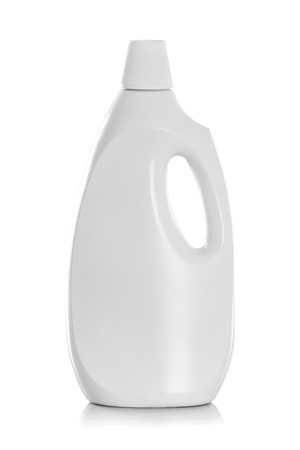 bleach: Detergent Bottle or cleaning product packaging isolated on white