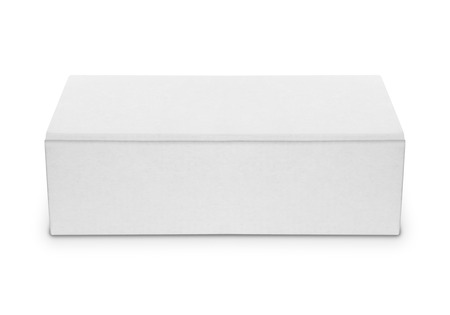 blank software or shoe box isolated over white ready for your design photo