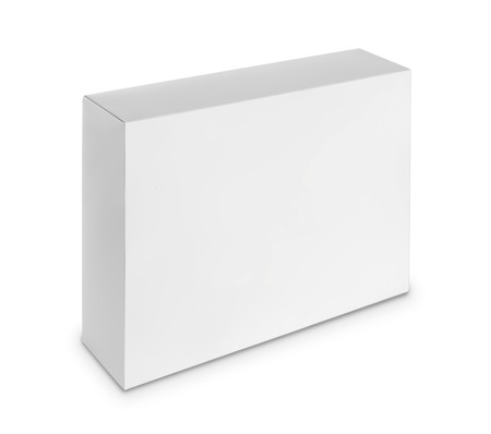 blank software or shoe box isolated over white background  ready for your design photo