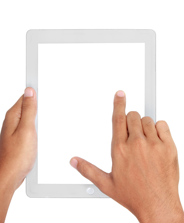 multitouch: Fingers pinching to zoom tablet