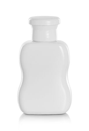 Gel, Foam Or Liquid Soap Plastic Bottle on a white background with reflection Stock Photo - 25305391