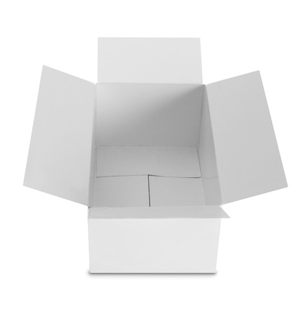 white Package Box isolated over white background photo