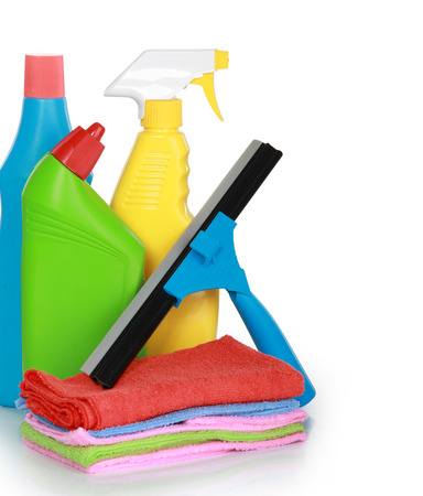 image of Cleaning Product isolated over white background photo