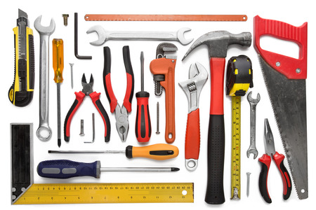 Many Tools isolated over a white background photo