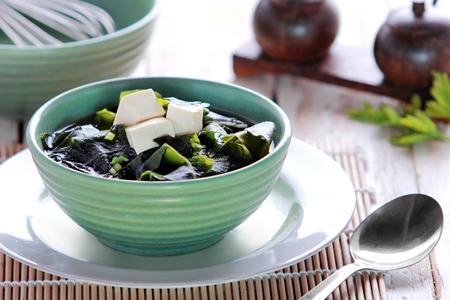 portrait of japanese cuisine miso soup