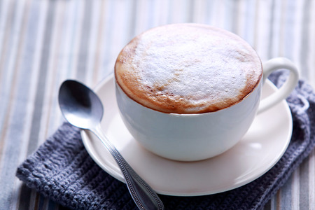 cappuccino cup: portrait of a cup of cappuccino