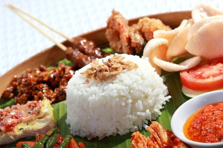almuerzo: comida indonesia saludable y delicioso para el almuerzo Foto de archivo