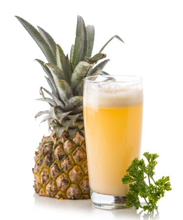 pineapple  glass: A potrait of a glass pineapple and milk mix juice