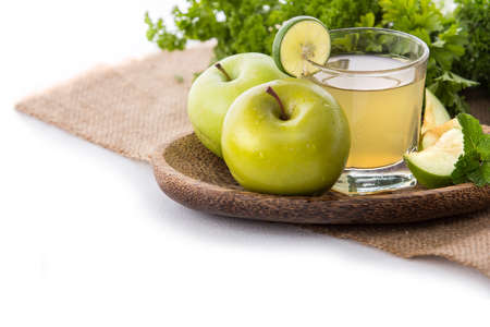 cleanse: The healthy smoothies juicy apple to make your day Stock Photo
