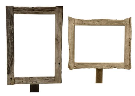 Un cartel de madera, aislado en blanco Foto de archivo - 37804298