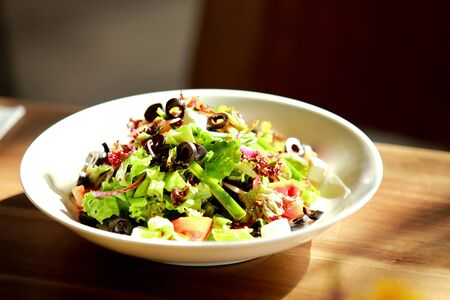western food: portrait of healthy salad for lunch