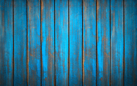 Blue washed wood texture. background old panels in high detailed photo Banco de Imagens
