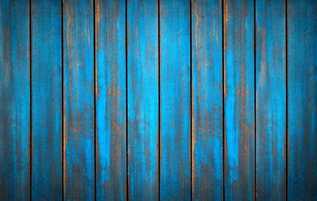 dřevěný: Modrá promývá texturu dřeva. pozadí staré desky ve vysokém detailní fotografie