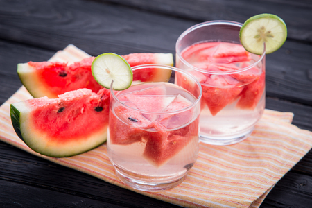 Summer fresh fruit Flavored infused water of watermelon