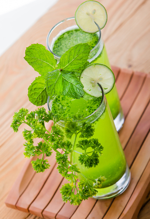 refreshment: portrait of a glass of healthy fresh juice for refreshment