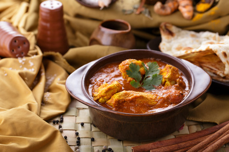 indian spice: portrait of indian spicy chicken curry
