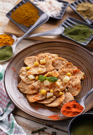 chaat: portrait of indian snack papri chaat