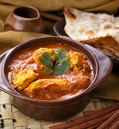 close up portrait of indian chicken curry