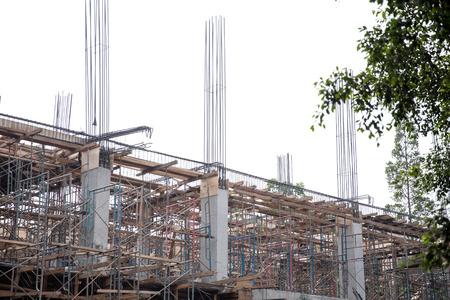materiales de construccion: Retrato de un edificio en obras de construcci�n