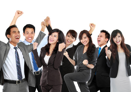 Group of business people celebrating their achievement, conceptual.