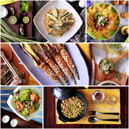 spanish food: portrait of some various spanish food collage