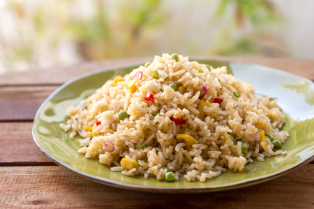 portrait of indonesian spicy fried rice Stock Photo