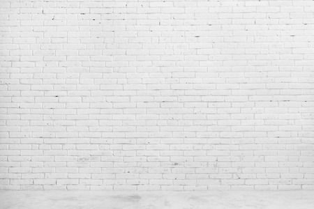 portrait of White brick wall for background or texture