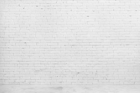 Portret białego ceglanego muru dla tła lub tekstury Zdjęcie Seryjne