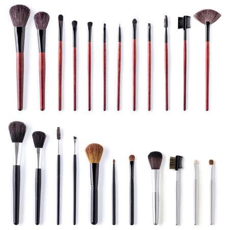 eye brow: make up brush set. isolated over white background