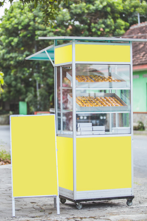 food stall on the side of ther road. street food concept