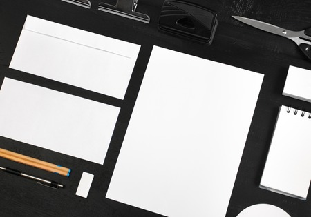 stationary mock up for identity design template Stock Photo