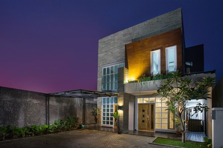 modern tropisch huis Stockfoto