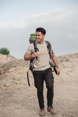male hiker walking Stock fotó - 94597960