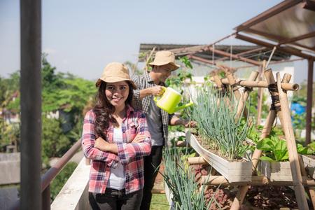woman in her farm