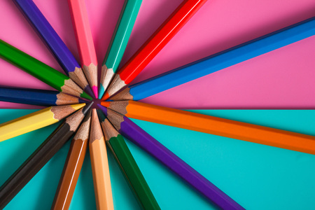 color pencil mockup for design Stock Photo