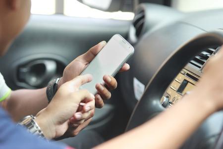 customer ordering taxi via online apps 写真素材