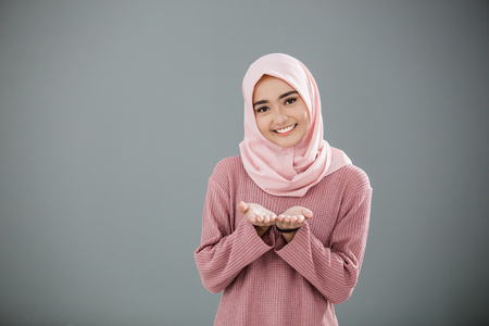 Attractive asian muslim woman