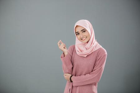 Atrakcyjna azjatycka muzułmańska kobieta