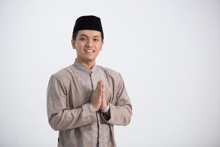 Religious man in shoot Imagens
