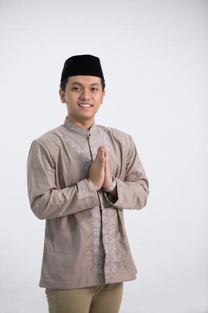 Religious man in shoot Standard-Bild