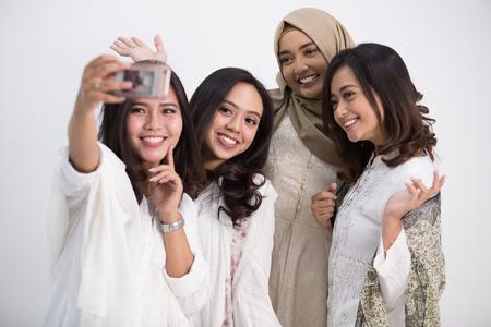 Femme modèle selfie Banque d'images - 98002653