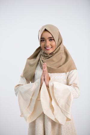 Jonge moslimvrouw Stockfoto