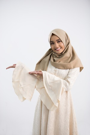 Junge muslimische Frau