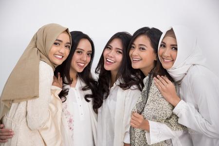 asian muslim woman. eid mubarak concept Archivio Fotografico