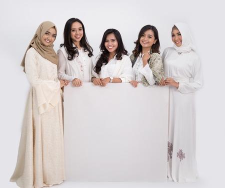 asian muslim woman. eid mubarak concept Banque d'images